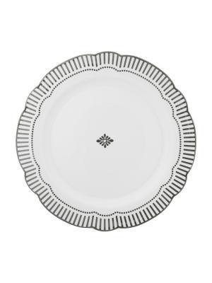 Набор из 2-х больших тарелок Copenhagen Silver MollyMarais. Цвет: серый, белый
