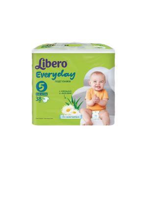 Libero Подгузники детские Every Day экстра лардж 11-25кг 38шт упаковка экономичная. Цвет: зеленый