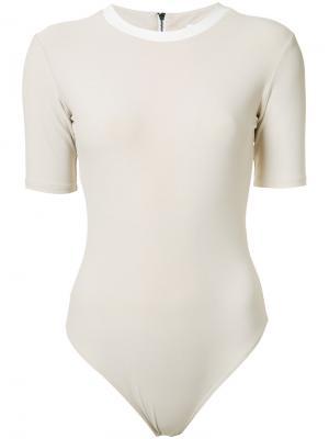 Mikoh bodysuit Alix. Цвет: телесный