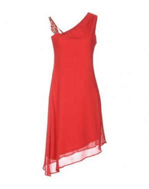 Платье до колена CARLA MONTANARINI. Цвет: красный