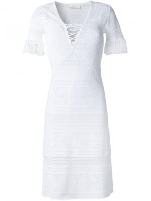 Платье с бахромой A.L.C.. Цвет: белый