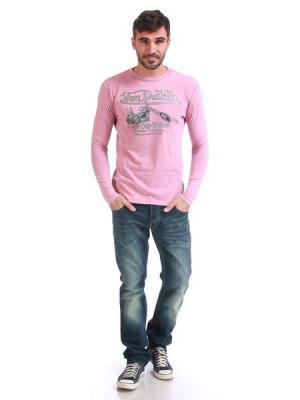 Лонгслив мужской VON DUTCH. Цвет: розовый