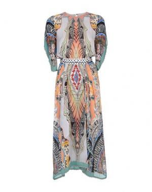 Длинное платье ETRO. Цвет: лососево-розовый