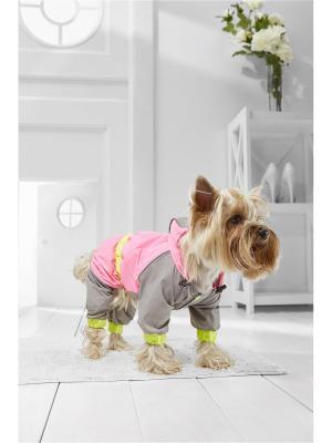 Дождевик для собак Nothing but Love. Цвет: розовый, серый