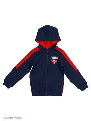 Толстовка Superman Hooded Sweat Jacket Puma. Цвет: синий