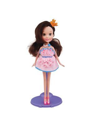 Набор для творчества с пластилином Fashion Dough и куклой Шатенка в розовом сарафане Toy Target. Цвет: розовый