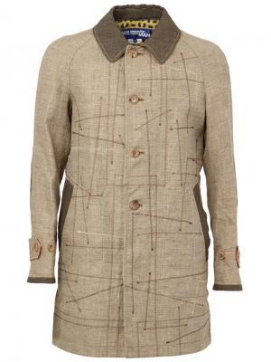 Пальто с простроченными деталями Junya Watanabe Comme Des Garçons Man. Цвет: телесный