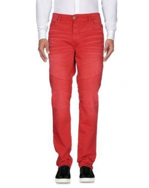 Повседневные брюки TRUE RELIGION. Цвет: красный