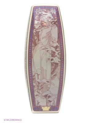 Ваза Времена года Elan Gallery. Цвет: бордовый, красный, розовый, белый