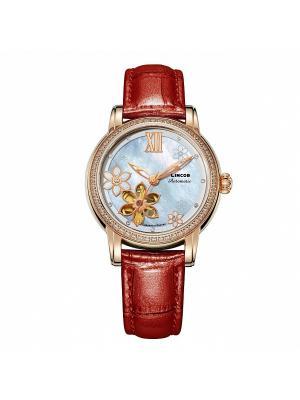 Часы LINCOR. Цвет: коричневый, золотистый