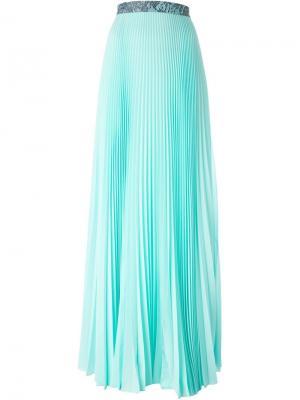Плиссированная юбка Christopher Kane. Цвет: зелёный