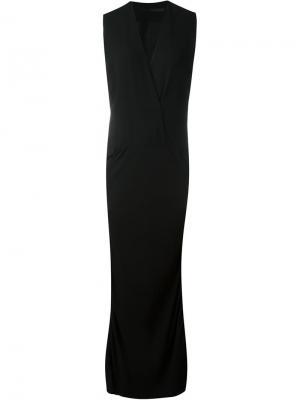 Платье c V-образным вырезом Haider Ackermann. Цвет: чёрный