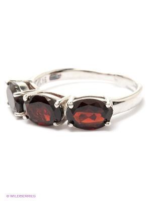 Кольцо BALEX. Цвет: бордовый, серебристый
