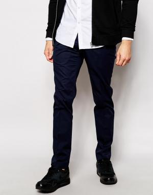 AKA Строгие брюки. Цвет: синий