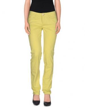 Повседневные брюки D-21. Цвет: кислотно-зеленый