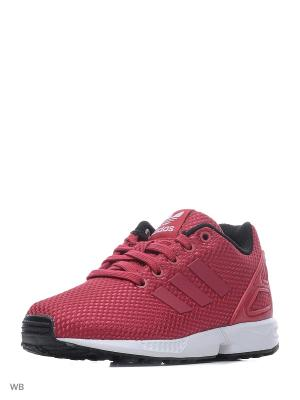 Кроссовки дет. спорт. ZX FLUX C Adidas. Цвет: розовый