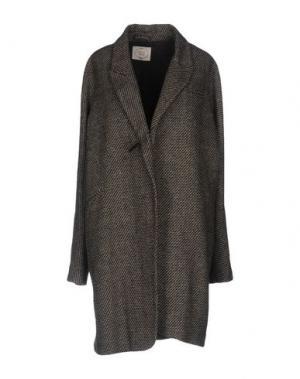 Пальто EMMA&GAIA. Цвет: темно-коричневый
