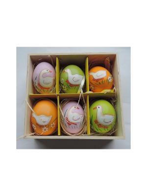Декоративное подвесное пасхальное яйцо ГУСИ Magic Home. Цвет: белый