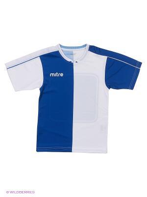 Футболка MITRE. Цвет: синий, белый