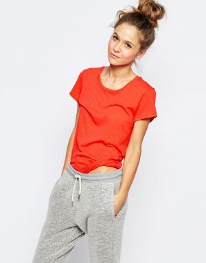 SUNDRY Меланжевая футболка Supima. Цвет: оранжевый
