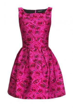 Платье из искусственного шелка 167840 Paola Morena. Цвет: розовый