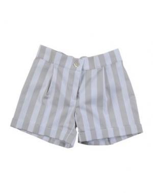 Повседневные шорты LA STUPENDERIA. Цвет: светло-серый