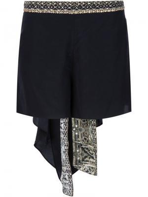Декорированные шорты Camilla. Цвет: чёрный