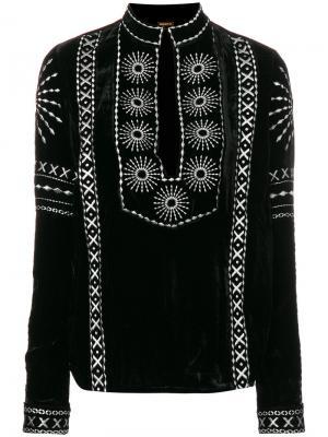 Блузка с вышивкой Dodo Bar Or. Цвет: чёрный