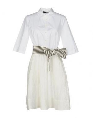Короткое платье .TESSA. Цвет: белый
