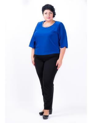 Блуза женская Люкс Полное счастье. Цвет: синий