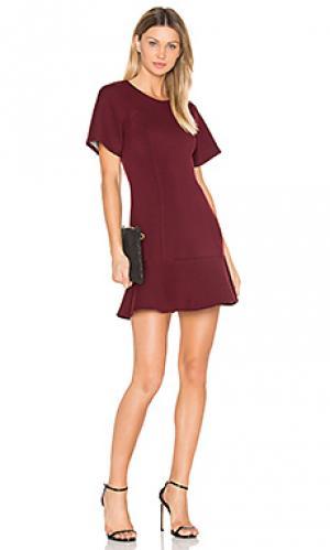 Расклешенное платье-футболка BLQ BASIQ. Цвет: красное вино