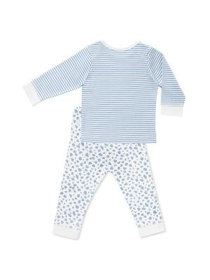 Пижама, футболка д/р и штанишки HappyBabyDays. Цвет: голубой
