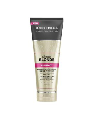 Восстанавливающий кондиционер для сильно поврежденных волос Sheer Blonde Hi Impact, 250 мл John Frieda. Цвет: белый