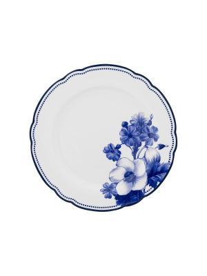 Набор из 4-х тарелок MollyMarais. Цвет: темно-синий, белый