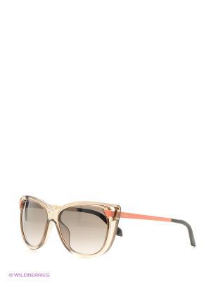 Солнцезащитные очки CHRISTIAN DIOR. Цвет: коричневый, рыжий