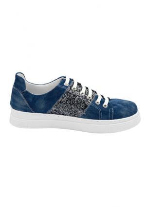 Сникеры Andrea Conti. Цвет: джинсовый синий