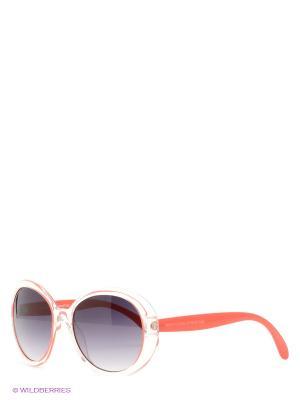 Солнцезащитные очки United Colors of Benetton. Цвет: красный, прозрачный