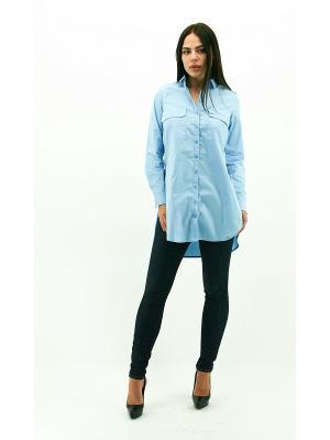 Рубашка DARBOURSTORE. Цвет: голубой