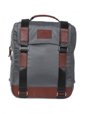 Рюкзак Sport College-2 39*30*13см, 1 отделение, 2 кармана, отд. для ноутбука, эргономичная спинка Berlingo. Цвет: серый, коричневый