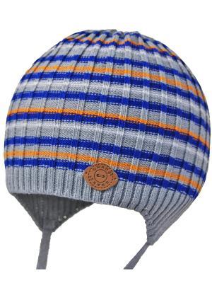 Шапка-ушанка Grans. Цвет: серый, оранжевый, синий
