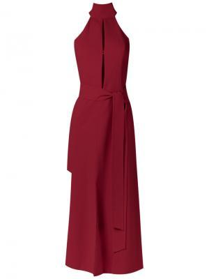 Lace up dress Giuliana Romanno. Цвет: красный