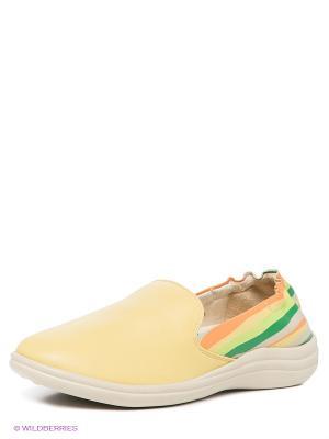 Ботинки Cooper. Цвет: светло-желтый