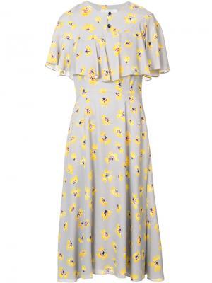 Платье с цветочным рисунком Novis. Цвет: серый