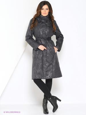 Пальто DONNA Maritta. Цвет: антрацитовый