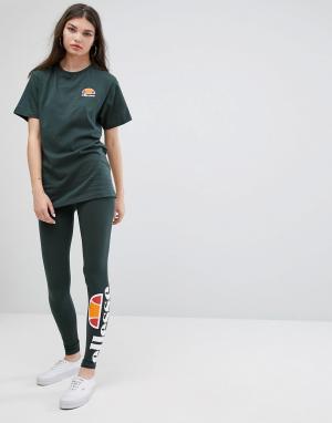 Ellesse Леггинсы с принтом логотипа. Цвет: зеленый