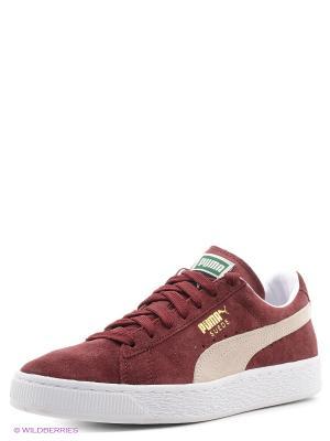 Кроссовки Suede Classic+ Puma. Цвет: бордовый