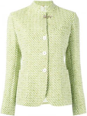 Tweed jacket Fay. Цвет: зелёный