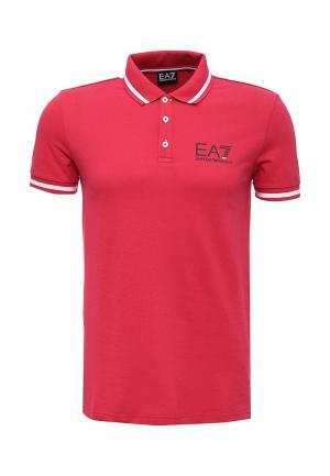Поло EA7. Цвет: розовый