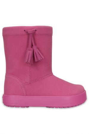 Сапоги Crocs. Цвет: розовый