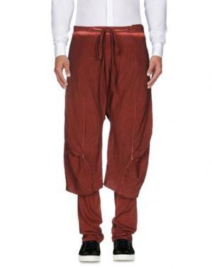 Повседневные брюки LUMEN ET UMBRA. Цвет: кирпично-красный